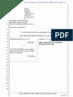 2019 04 03 Dec of C. Wylie ISO Plaintiffs Brief to Defendants Ex Parte