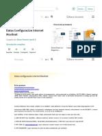 Datos Configuracion Internet Movilnet