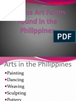 Various Art Forms Found in the Philippines
