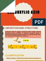 6. Carboxylic Acid