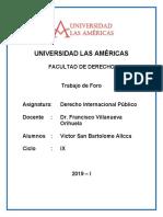 Derecho Internacional Publico - Foro