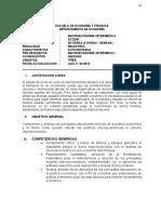 Programa Macroeconomics Intermediate 1 EAFIT