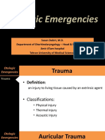 Otologic Emergencies