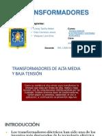 Transformadores de Alta Media y Baja Tensión