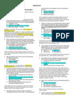 Diagnostic Exam Answer Key