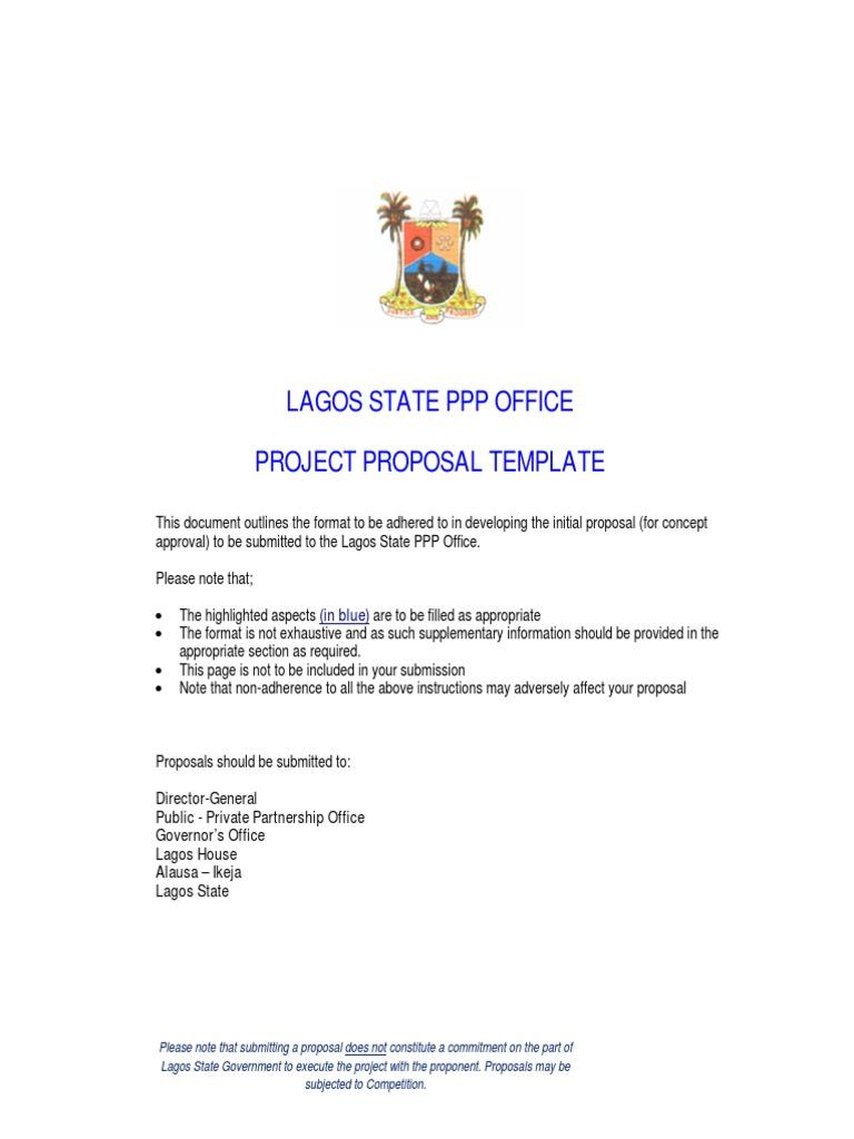 Project Proposal Template | Public–Private Partnership | Economies
