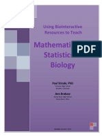Mathematics and Statistics in Biology