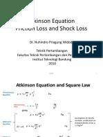 04 Atkinson Eq Square Law Friction&Shock Loss