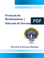 Protocolo de Reclutamiento y Selección de Personal de La Procuraduría General de La Nación