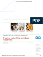 Trucos de Cocina_ Cómo Reemplazar Ingredientes _ PequeRecetas