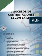 PROCESOS DE CONTRATACIONES SEGUN LA LEY