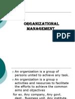 Organisational Management