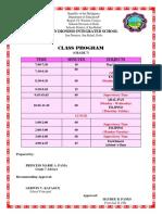 Class Program Sy 2018 2019
