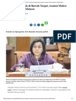_Ekonomi Tumbuh Di Bawah Target, Asumsi Makro Semester I 2019 Meleset
