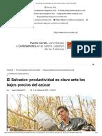 El Salvador_ Productividad Es Clave Ante Los Bajos Precios Del Azúcar