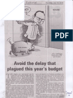 Manila Bulletin, July 18, 2019, Avoid the delay that plagued this year's budget.pdf