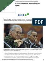 Pertumbuhan Ekonomi Indonesia 2018 Diapresiasi Negara Mitra Dagang