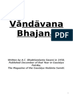Vrndavana Bhajana - By Srila Prabhupada