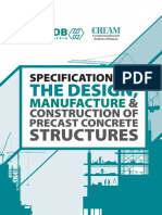 Specification for the Design, Manufacture & Construction of Precast Structures