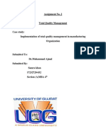 Implementation of TQM in a Manufacturing Organization Case Study 1