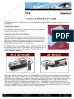 Measurement of Adhesion Strength