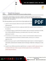 General Guidelines on Leave Applications