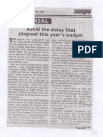 Tempo, July 18, 2019, Avoid the delay that plagued this years budget.pdf