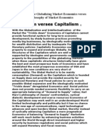 Philosophy of the Globalizing Market Economics Verses Capitalism