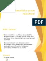 Boala hemolitica a nou-nascutului