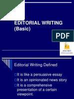 Editorial Writing Basic