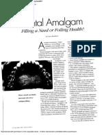 Dental Amalgam--Filling a Need or Foiling Health