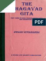 [Swami Sivananda] the Bhagavad Gita