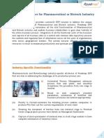 ERP for Pharma or Biotech Industries