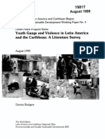 Youth Gangs and Violence in Latin America and the Caribbean- A Literature Survey