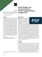 Dental Amalgam and Psychosocial Status--NECA Trial 2008
