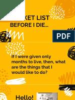Bucket list before I die....pptx