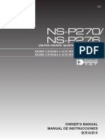 Yamaha NS-P270 User Manual