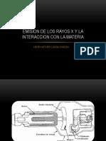 INTERACCION DE LOS RAYOS X CON LA MATERIA