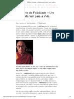A Arte Da Felicidade – Um Manual Para a Vida _ Sobre Budismo