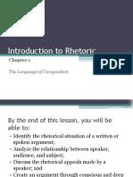 Intro to Rhetoric