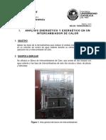 Analisis Energetico y Exergetico en Un Intercambiador de Calor
