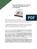 De La Improcedencia de Discriminar en El Libro de Ventas Del IVA a Clientes Contribuyentes y No Contribuyentes