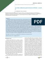 Geochemichal assessment