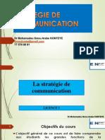 Cours Strategie de Communication Ensup Gpe Ad l3