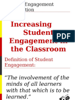 Increasing student engagement in the classroom