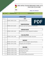 Tabel struktur proyek