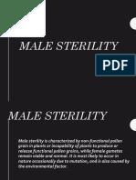 Male Sterility