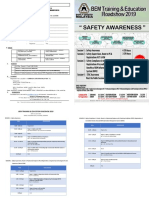 Safety Awareness Roadshow 2019 Brochure