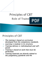 Principles of CBT and Role of Trainer