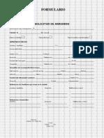 Formulario para solicitud de arriendo